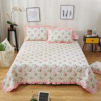 君别床盖三件套加厚纯夹棉床单被春秋冬季韩版床裙铺盖加大20欧式床罩 +同款枕套一对