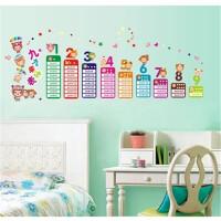 墙贴 儿童房卡通教室布置幼儿园可移除墙贴纸九九乘法表
