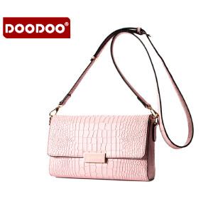 【支持礼品卡】DOODOO 潮流女款小包包2017新款女包夏季单肩女士包包百搭女包迷你斜挎包 D6018