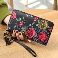女士钱包女长款手拿包拉链女式钱夹韩版大钞夹
