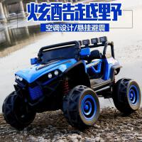 儿童四轮电动汽车越野车双人带遥控1-3-5岁男女孩大号可坐童车