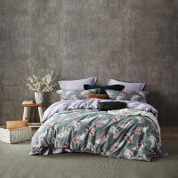 LOVO家纺 全棉缎纹60支床单被套高支高密四件套 特尔尼之夜(畅享版)