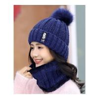 201810252047230帽子女冬天潮加绒毛线帽韩版青年甜美可爱女士秋冬针织帽百搭保暖