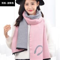 冬季围巾女长款披肩仿羊绒学生加厚两用韩版英伦格子春秋围脖