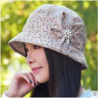 渔夫帽春夏新款女士帽子韩版休闲时尚碎花鸭舌帽子