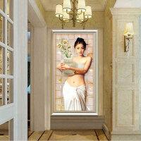 现代简约玄关装饰画卧室客厅餐厅墙画过道走廊挂画竖版珠宝花蝴蝶