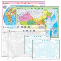 1【XSM】地理学习图典:中国世界速记地图+填图全解(套装共6张) 中国地图出版社 中国地图出版社9787503193