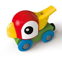 Hape鹦鹉口哨小火车18个月以上儿童火车轨道配件玩具婴幼玩具木制玩具E3808