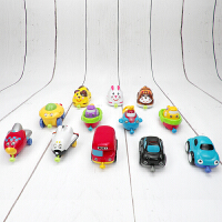 宝乐童惯性小汽车动物飞机火车工程车耐摔磁力连接儿童玩具车套装