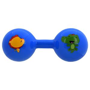 【当当自营】Fisher Price 费雪 新生儿哑铃球宝宝玩具手抓球婴儿球手柄球健身球锻炼手臂F0901蓝色