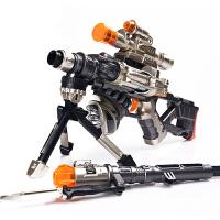 雪豹狙击枪 电动玩具枪 男孩儿童玩具枪声光狙击枪机关枪