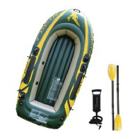 正品INTEX厚二三四人充气船 橡皮艇 气垫船 皮划艇 钓鱼船