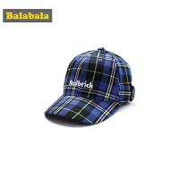 巴拉巴拉儿童帽子男女童鸭舌帽时尚棒球帽潮运动休闲遮阳格子帽潮