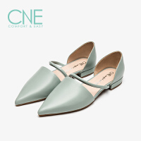 CNE2019夏季新款凉鞋女仙女风晚晚鞋一字带玛丽珍女凉鞋AM12709
