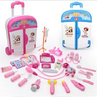 拉杆箱儿童医生玩具打针宝宝工具玩具套装小护士女孩子医护听诊器