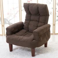 日式懒人沙发单人布艺休闲榻榻米电脑电视椅创意孕妇喂奶椅老人椅