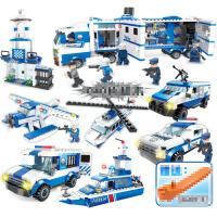 积木拼装警察玩具儿童益智男孩3-6-8-10岁以上礼物