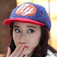网红同款时尚户外运动新品帽子女韩版户外加厚保暖鸭舌帽 女士加绒毛尼棒球帽