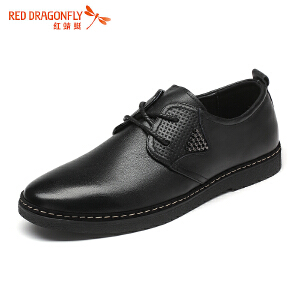红蜻蜓休闲男鞋 新款英伦软底舒适商务单鞋子