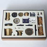 纯铜香具入门套装高级传统古法打拓香篆香炉沉香工具用品香道用具