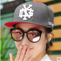 嘻哈帽子男士网红同款时尚韩版潮户外运动街舞平沿帽 韩国新品字母防晒棒球帽