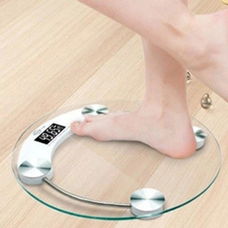 圆形33CM玻璃电子称电子体重秤精准家用健康称测人体仪秤小型女器称重计DZC3660