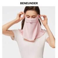 护颈防晒口罩女冬全脸防紫外线防尘透气可清洗冰丝面罩