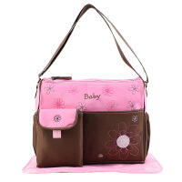 新款妈咪包 母婴用品时尚潮型妈妈袋 一件母婴孕妇外出包 嫩粉色
