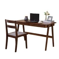 北欧迷你实木书桌简约电脑桌台式办公桌日式带抽屉书房写字台家用