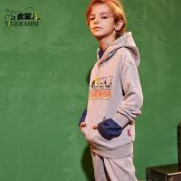 【2件2.5折:77.3元 领券更优惠】小虎宝儿男童套装2019春装新款儿童洋气卫衣中大童运动休闲两件套
