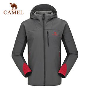 camel骆驼户外软壳衣 情侣款耐磨保暖软壳衣