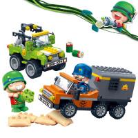 新品邦宝益智拼装小颗粒积木儿童玩具正版炮炮兵追踪弹药库6228