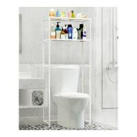 浴室洗衣机挂壁置物架卫生间马桶架厕所整理架落地收纳用品层架子 白色