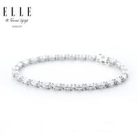 ELLE手链 闪耀系列 S925银红宝石饰品 来自法国 情人节礼物送女友