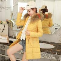 冬装棉袄女2018新款羽绒中长款大毛领棉衣女韩版冬季厚外套潮