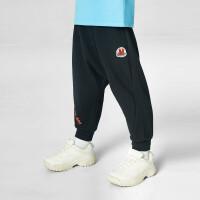 【2件4折价:67.6】安奈儿童装男童长裤2021新款宝宝束脚裤小童全腰针织单裤运动裤子