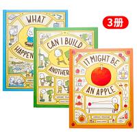 【中商原版】吉竹伸介创意启发哲学精装绘本3册 英文原版 It Might Be An Apple这是苹果吗?也许是喔
