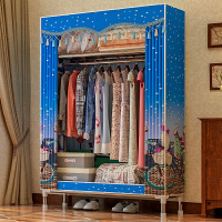 布衣柜25MM钢管加粗加固简易衣柜组装单人大号牛津布艺衣橱经济型2560