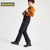 巴拉巴拉男童女童裤子加厚保暖儿童长裤冬小童宝宝大童运动背带裤