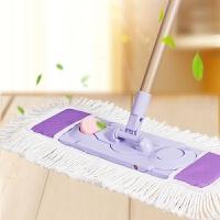 大号平板拖把旋转家用地板瓷砖地拖大拖把尘推纯棉线墩布颜色随机