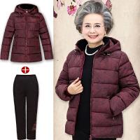 妈妈冬装棉衣中老年人女装60-70岁加厚棉袄奶奶羽绒80岁外套