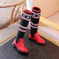 女童过膝靴 2017新款韩版儿童长靴女潮季袜子靴靴子长筒靴