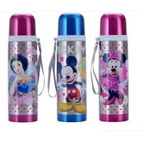迪士尼保温杯 500ML米奇保温杯儿童子弹头保温水壶 .