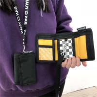 ?钱包字母短款复古文艺学生钱包钱夹男女挂脖零钱包?