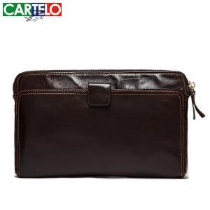 新款真皮男士钱包钱夹头层牛皮商务男士手拿包手机包零钱包
