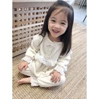 秋冬季儿童睡衣女童宝宝暖和家居服女孩洋气珊瑚绒套装