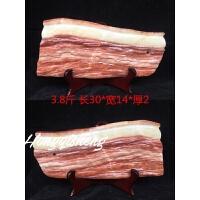 猪肉石片肉块肉五花肉奇石观赏石造型石广西特产礼品原石