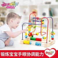 婴儿绕珠玩具6-12个月男孩女孩0-1-2岁宝宝3周岁儿童益智早教串珠