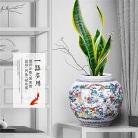 陶瓷器摆件花瓶百子图储物罐装饰品家居客厅工艺品结婚礼物