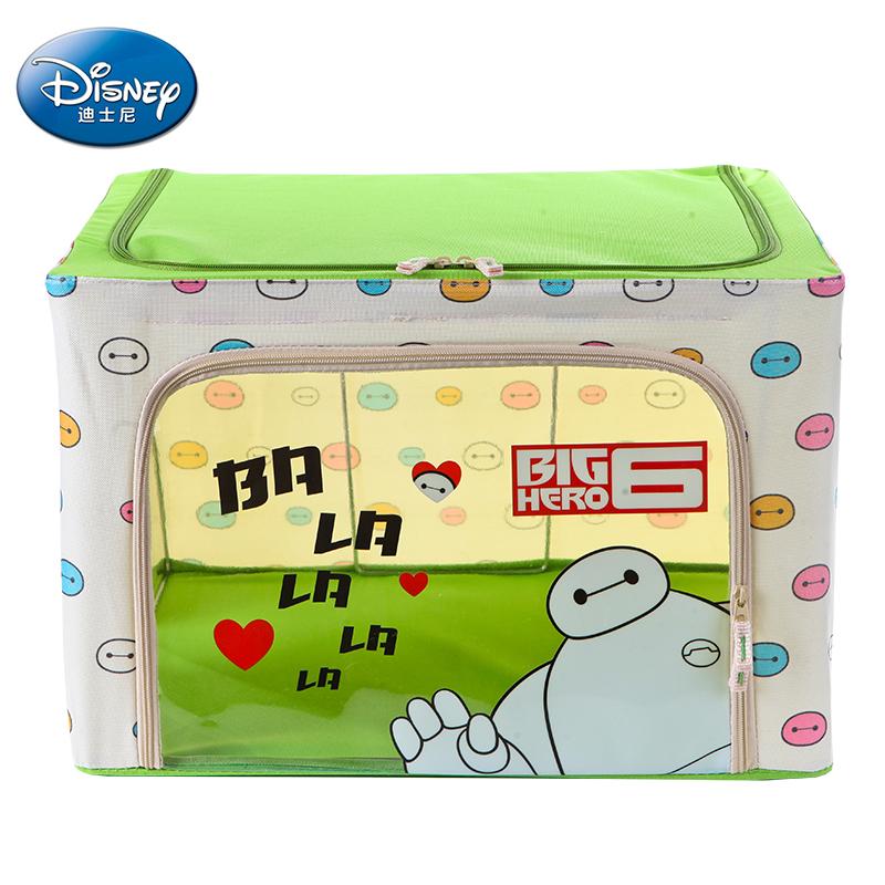 """迪士尼Disney正品 88L 超能陆战队""""大白""""LX-2015021(绿色)牛津布4钢架折叠收纳箱 整理箱 收纳盒"""